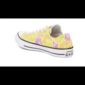 Converse low top citrus fruit print
